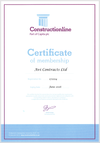 Construction Line | Avi Contracts Ltd