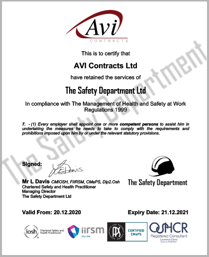 Health & Safety | Avi Contracts Ltd